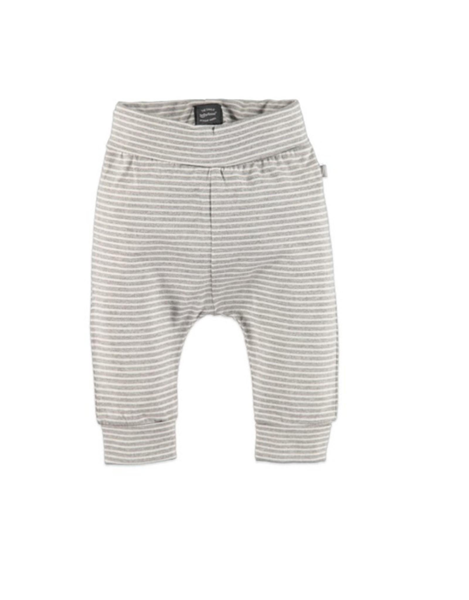 Babyface Unisex-setje T-shirt ecru  + broekje grijs streep