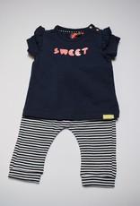 Babyface Meisjesset T-shirt navy sweet  + broekje navy  streep