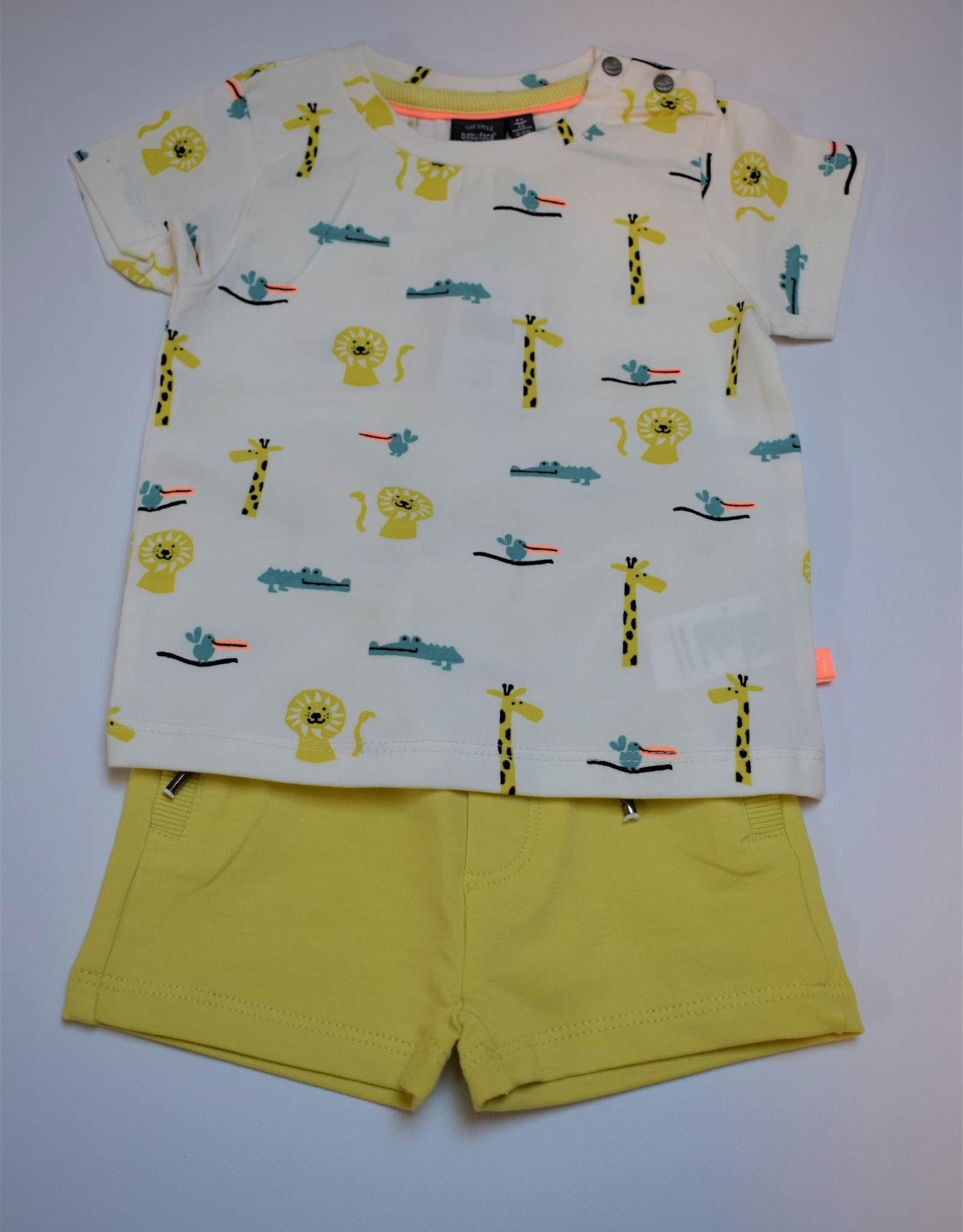 Babyface Jongensset T-shirt KM zoo + short geel