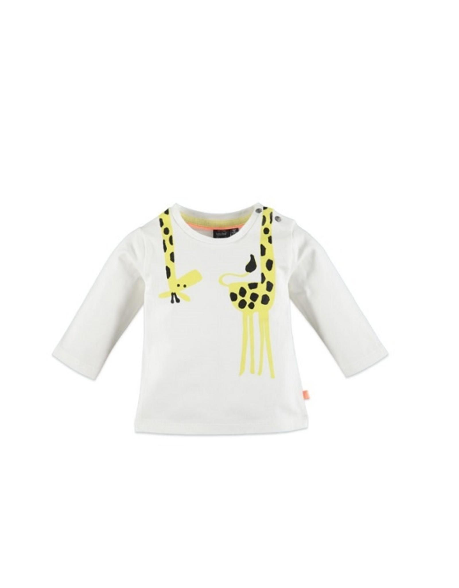 Babyface Jongens T-shirt ecru giraf - maat 56