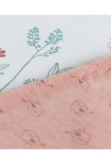 Noukie's Pyjama 2delig ecru bloem/vogel Z035143