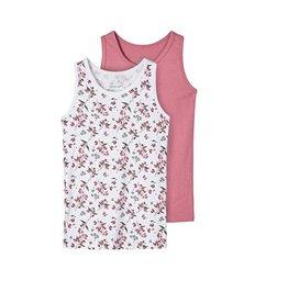 Name It 2 onderhemdjes heather rose