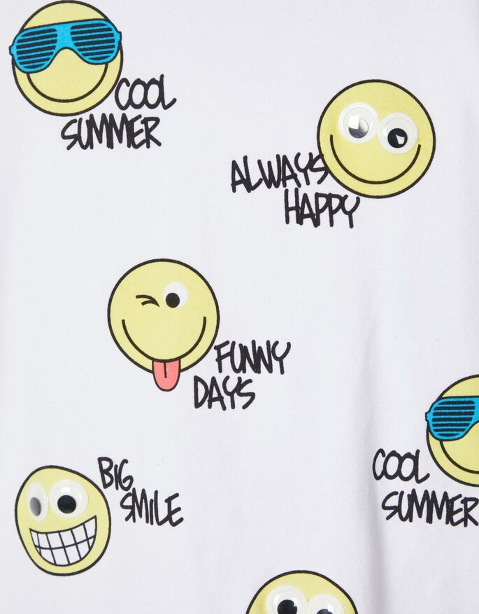 Name It T-shirt smiley's  NMMHAPPY