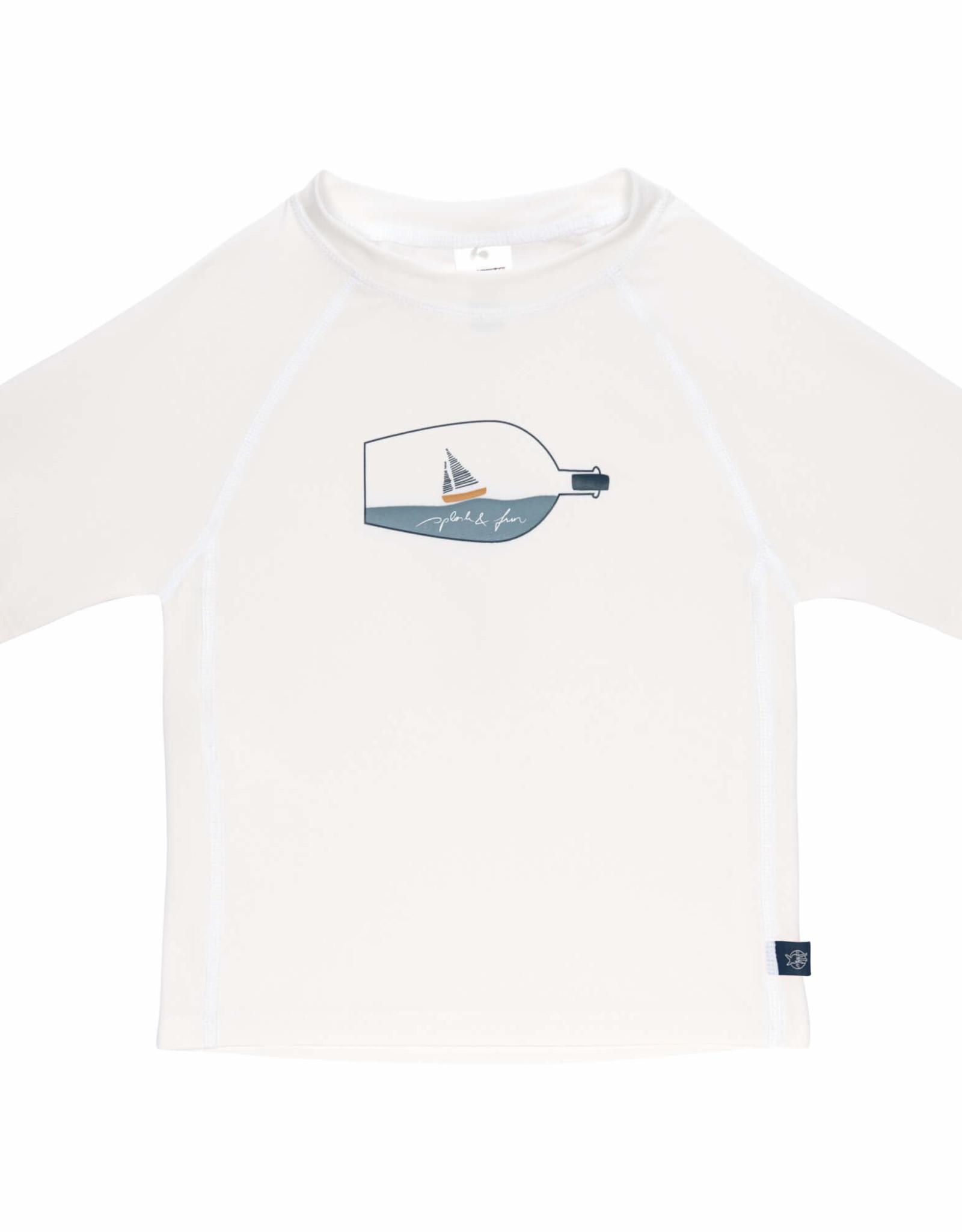 Lässig T-shirt KM ecru Ship in a bottle UV-50+