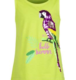 Mexx Top groen papegaai (glitter/wrijf)