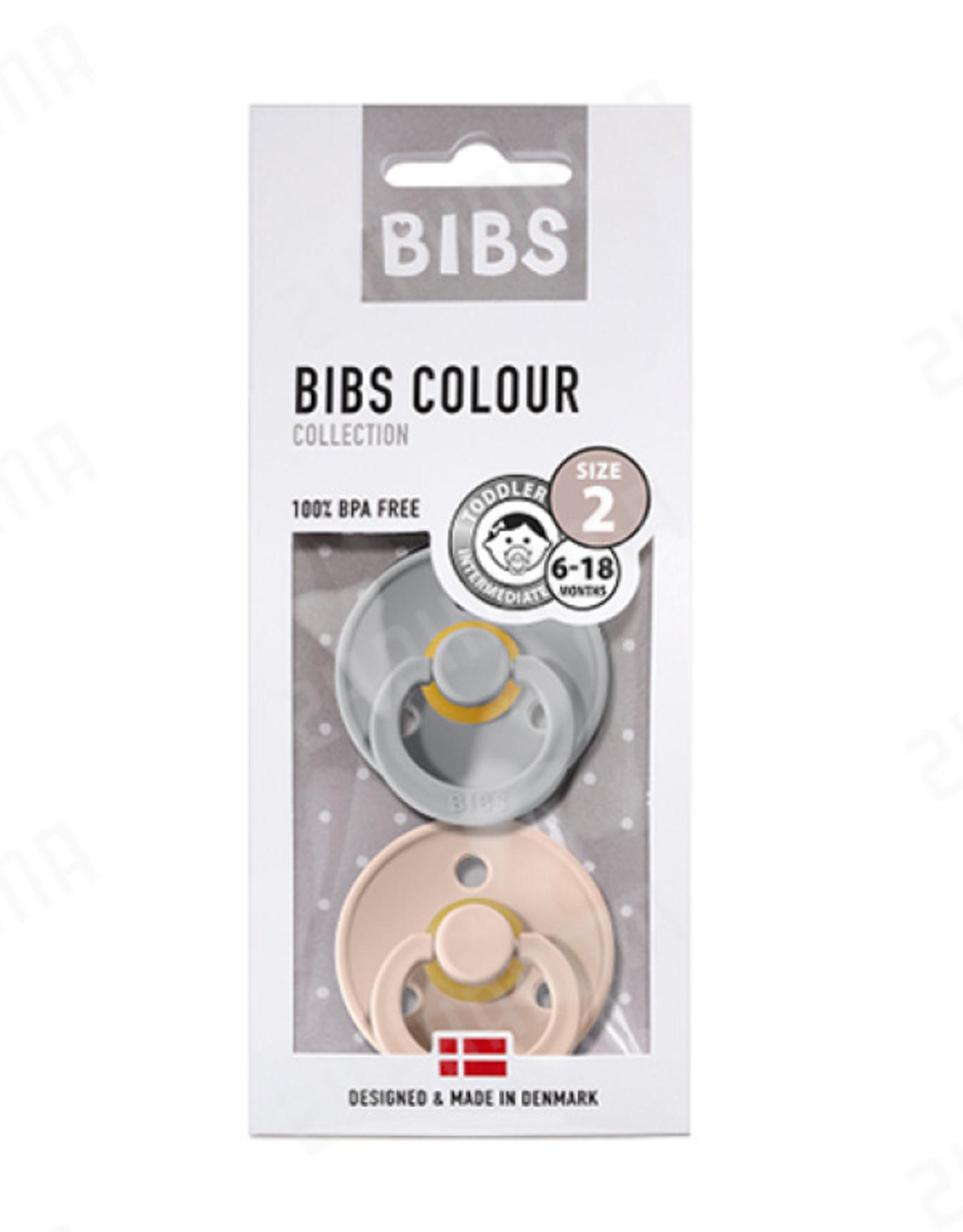 Bibs Fopspenen 2st cloud/blush T2  6-18m