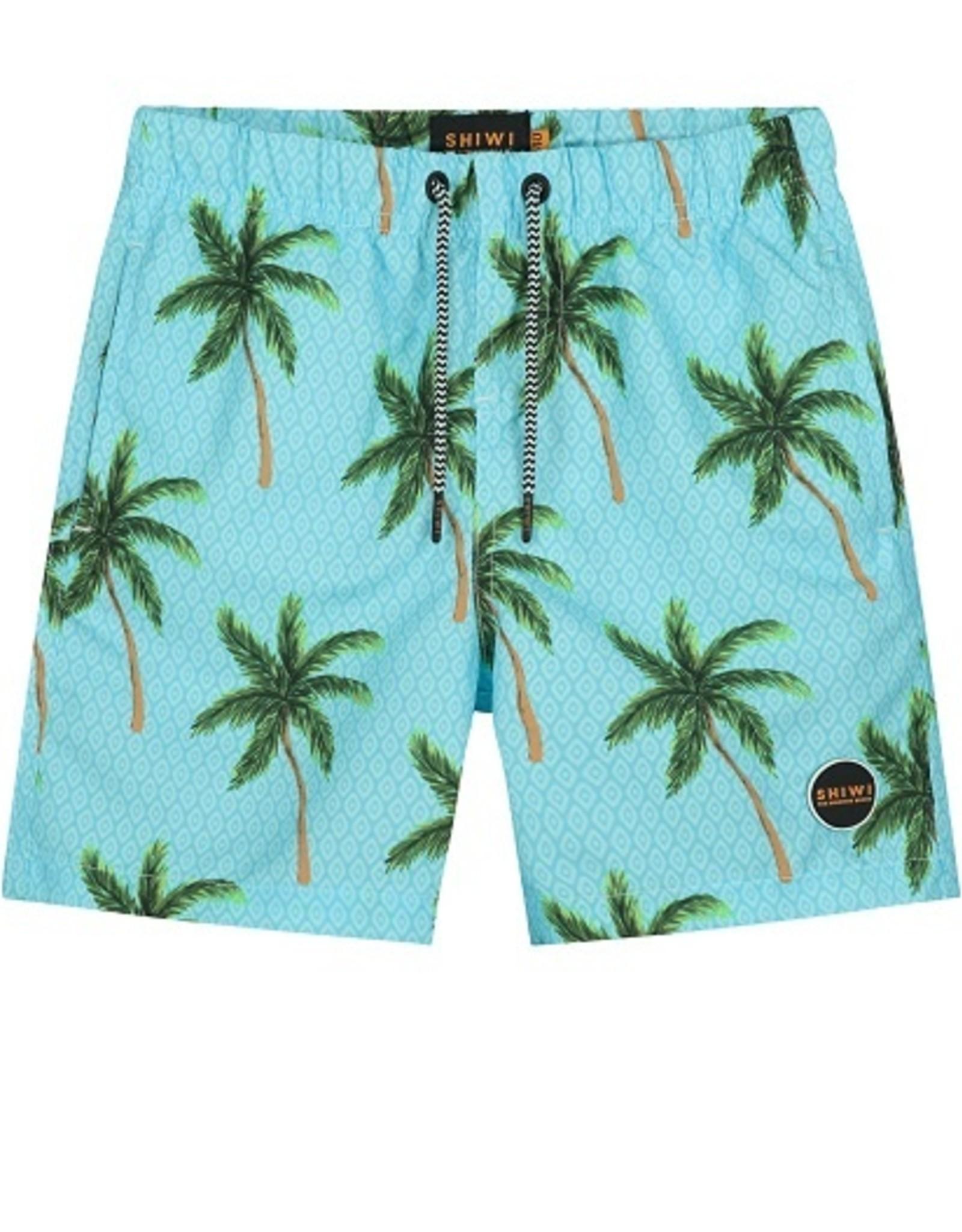 Shialy Zwemshort aqua palmbomen
