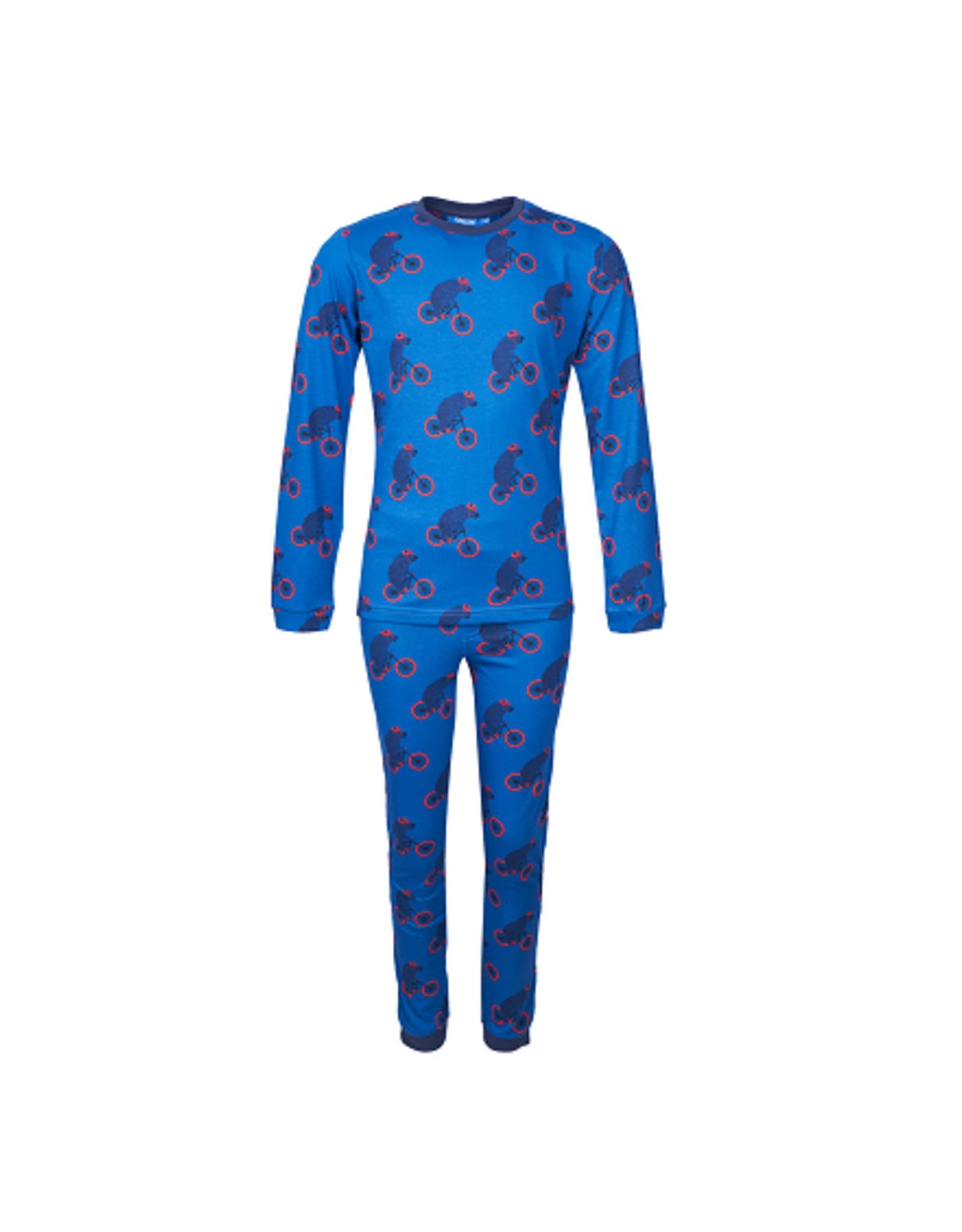 Someone Pyjama  blauw beer/fiets