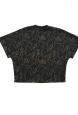 Too Many Bunnies T-shirt zwart/goud JAGGER
