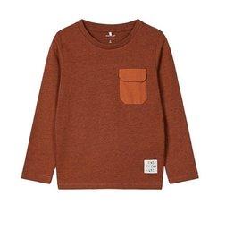 Name It T-shirt met borstzakje brick