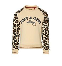 Quapi Sweater vanilla /leopard