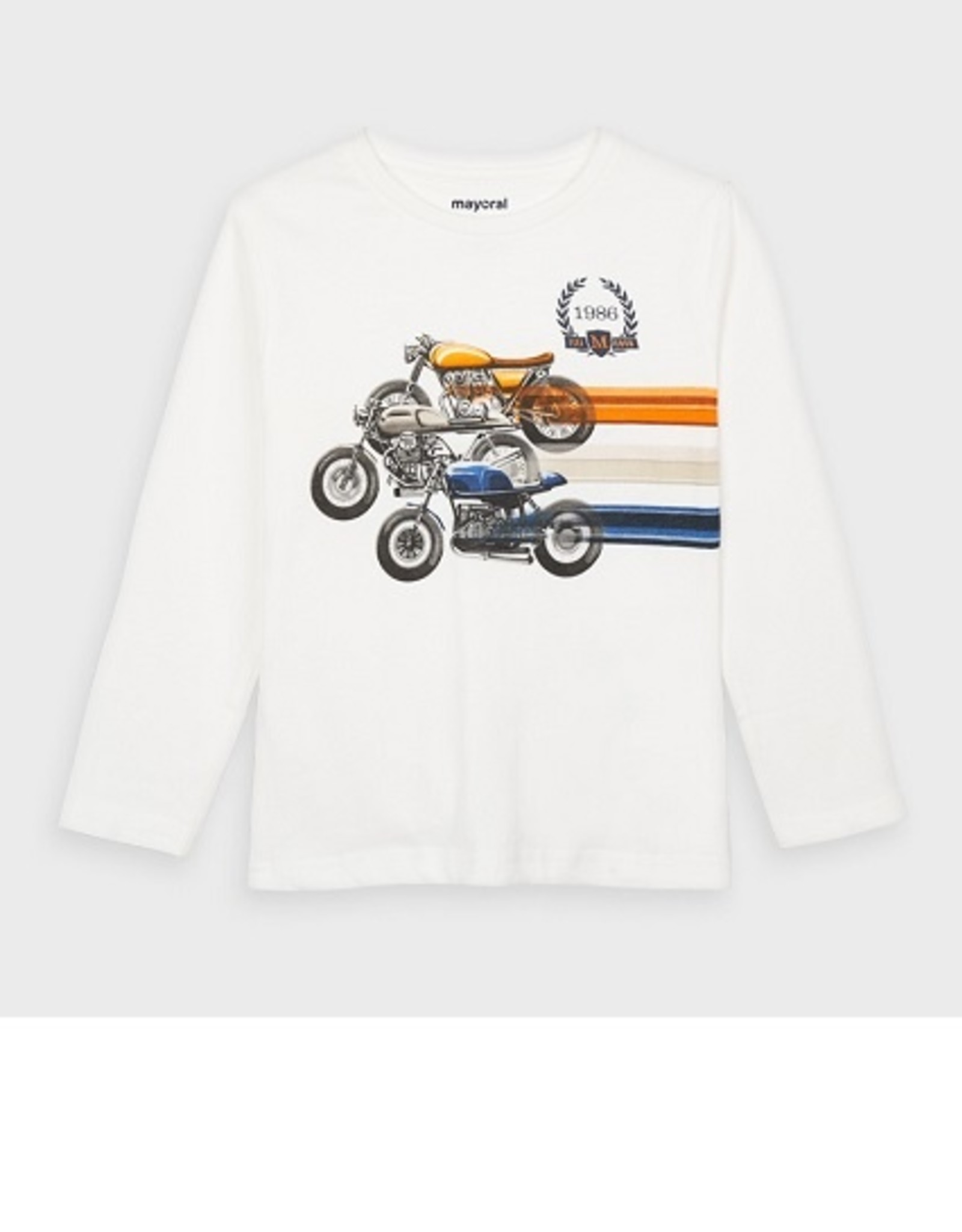 Mayoral T-shirt ecru motors