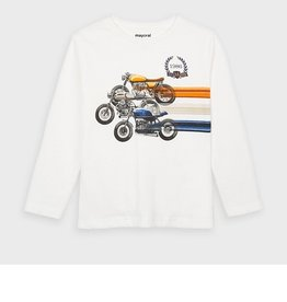 Mayoral T-shirt ecru motors