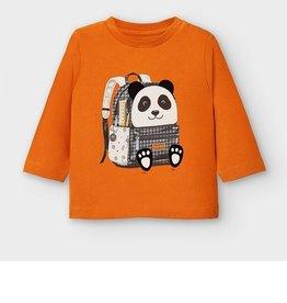 Mayoral T-shirt donker oranje rugzak