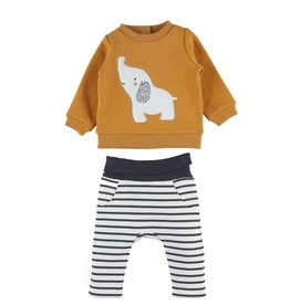 Noukie's 2-delige set sweater olifant/ broekje streep
