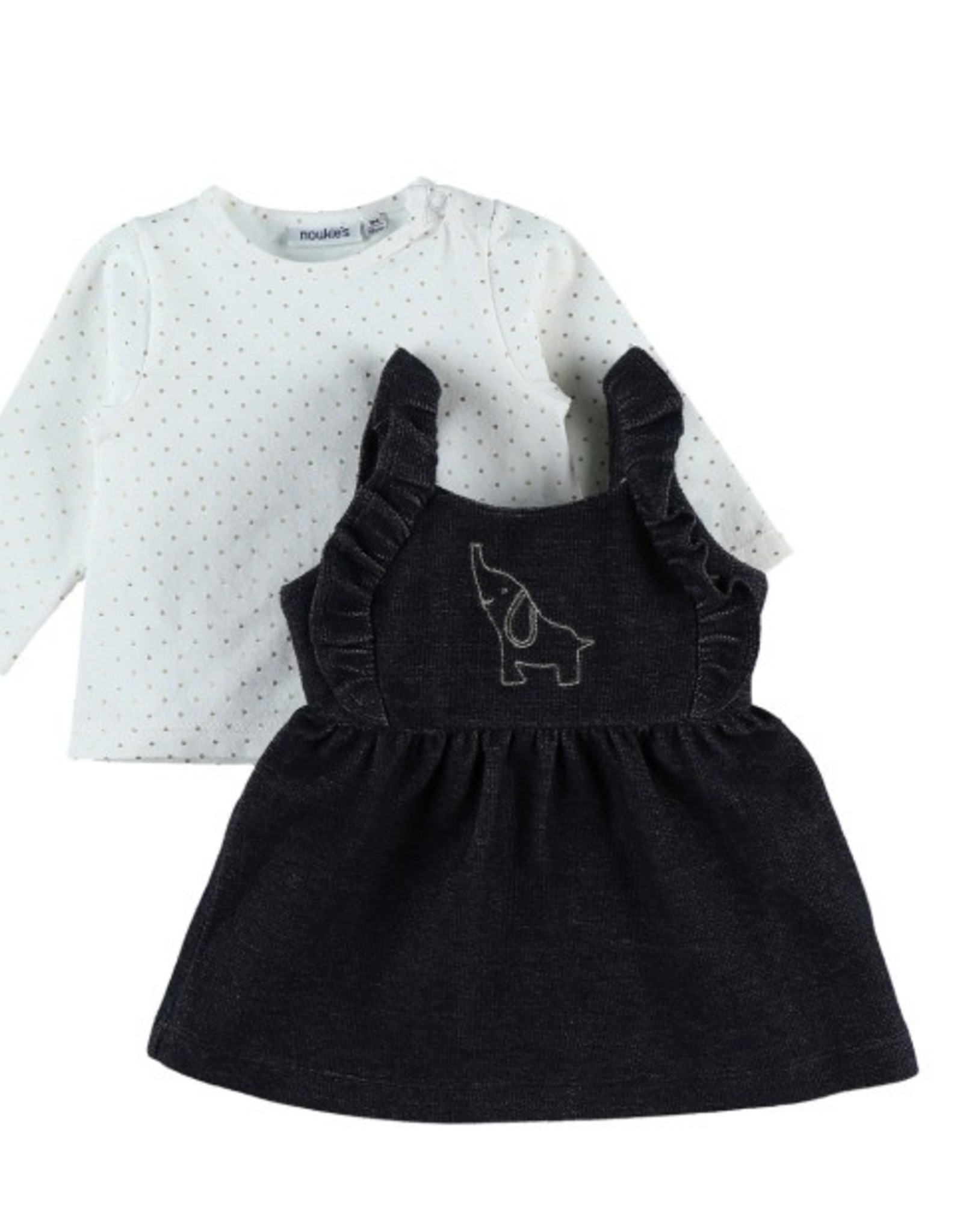 Noukie's Salopette kleedje/ t-shirt dots