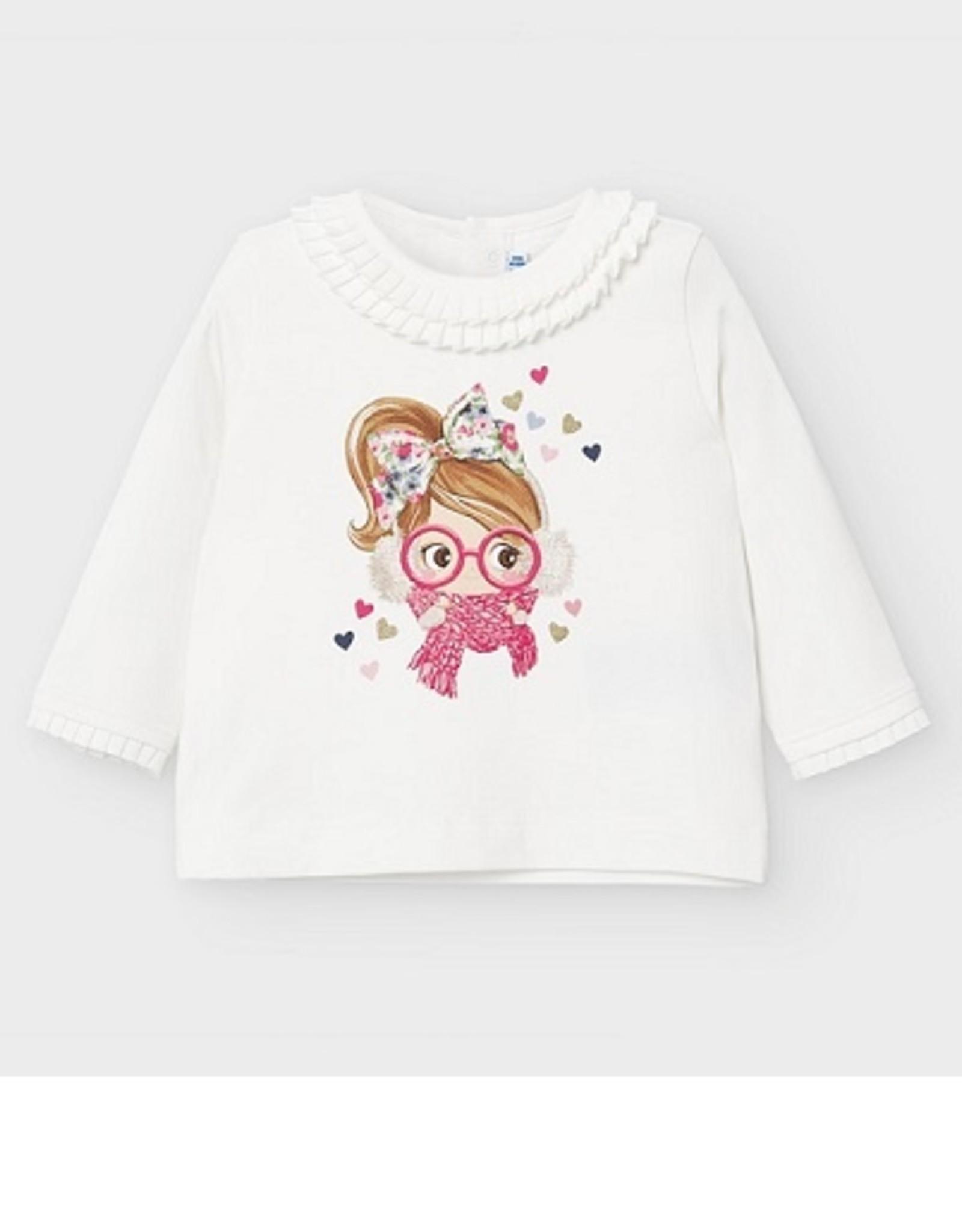 Mayoral  T-shirt ecru meisje