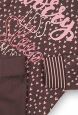 Charlie Choe Meisjespyjama Worry pink/grey