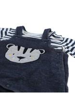 Noukie's  Salopette met strepen  t-shirt