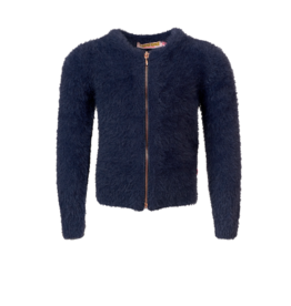 Someone Vestje met rits fluffy navy