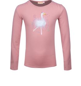 Someone T-tshirt old pink dansende  zwaan