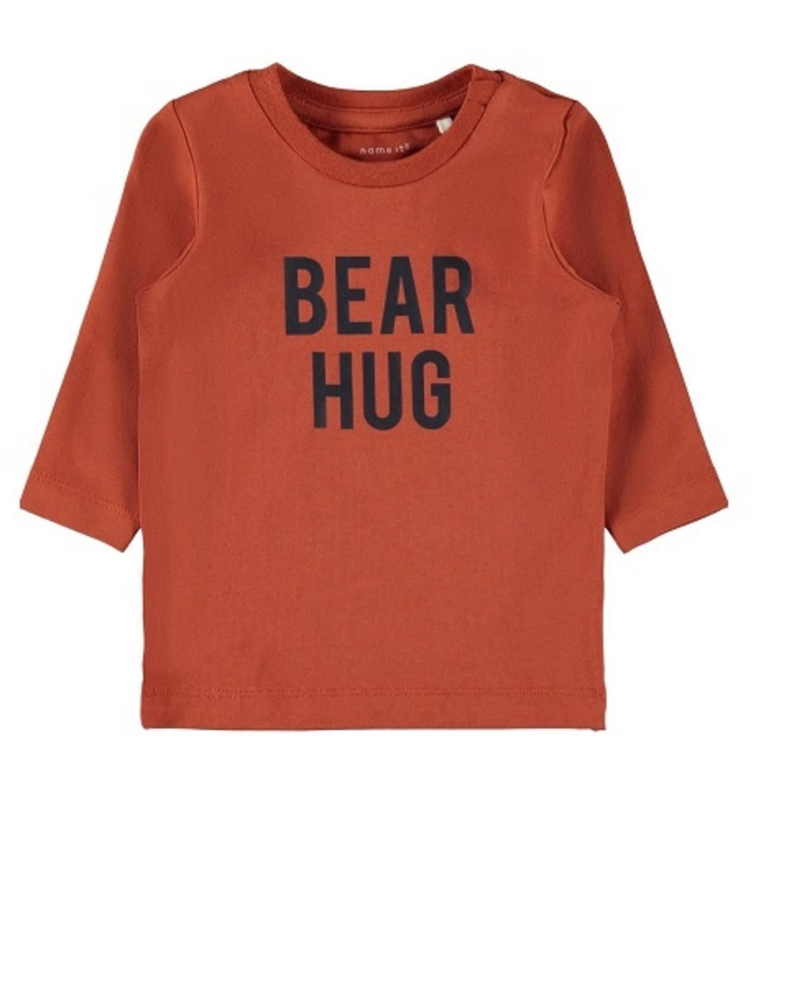 Name It T-shirt oranje/roest  BEAR HUG