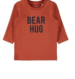 Name It T-shirt oranje/roest BEAR HUG
