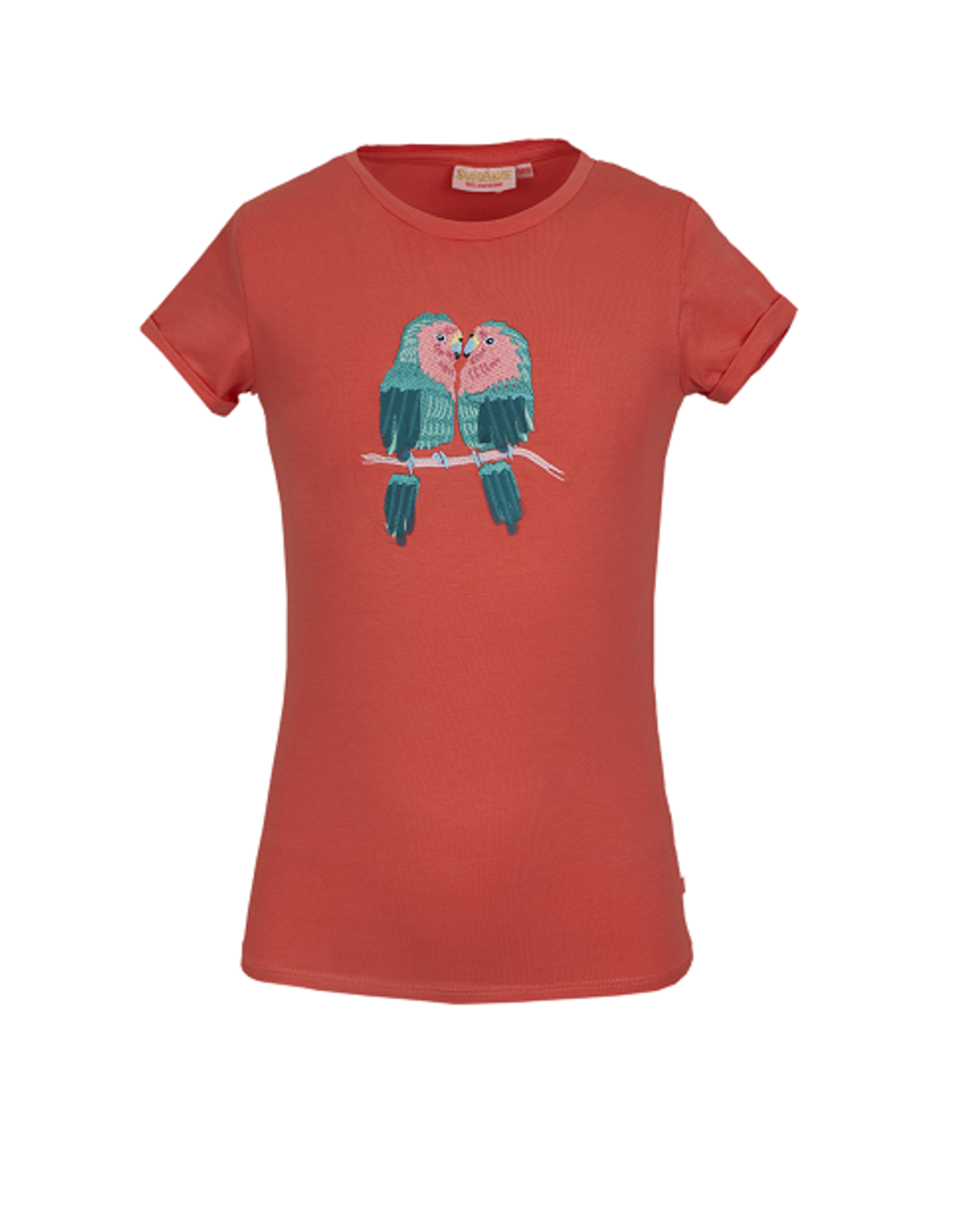 Someone T-shirt coral ara Papegaaien