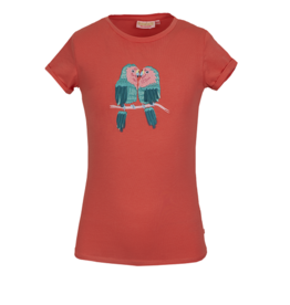 Someone T-shirt coral papegaaien