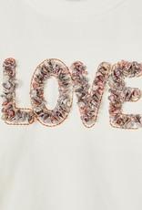 Name It T-shirt ecru LOVE