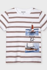 Mayoral T-shirt wit streep- boot