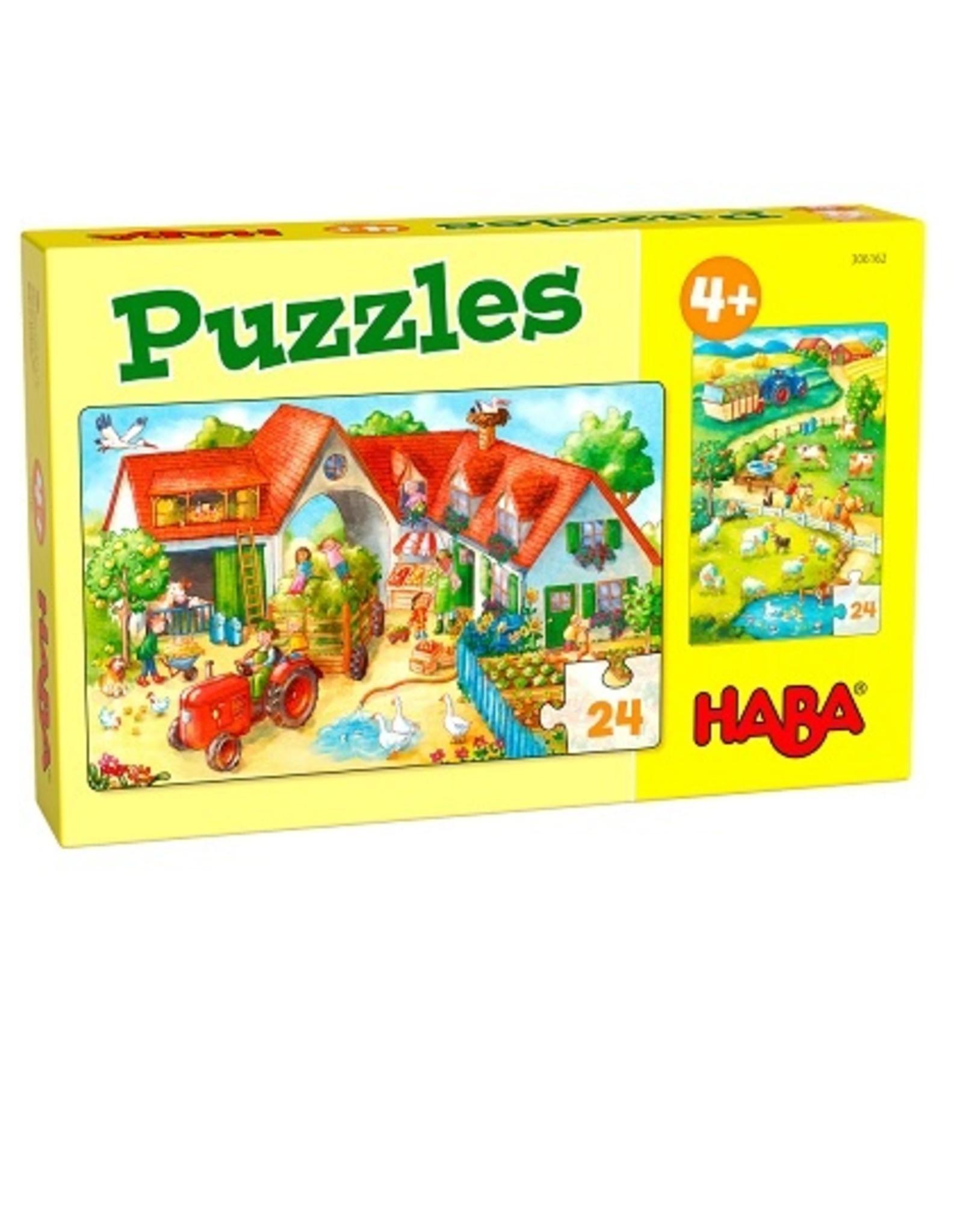 Haba Puzzel + 4jaar 24 stuks