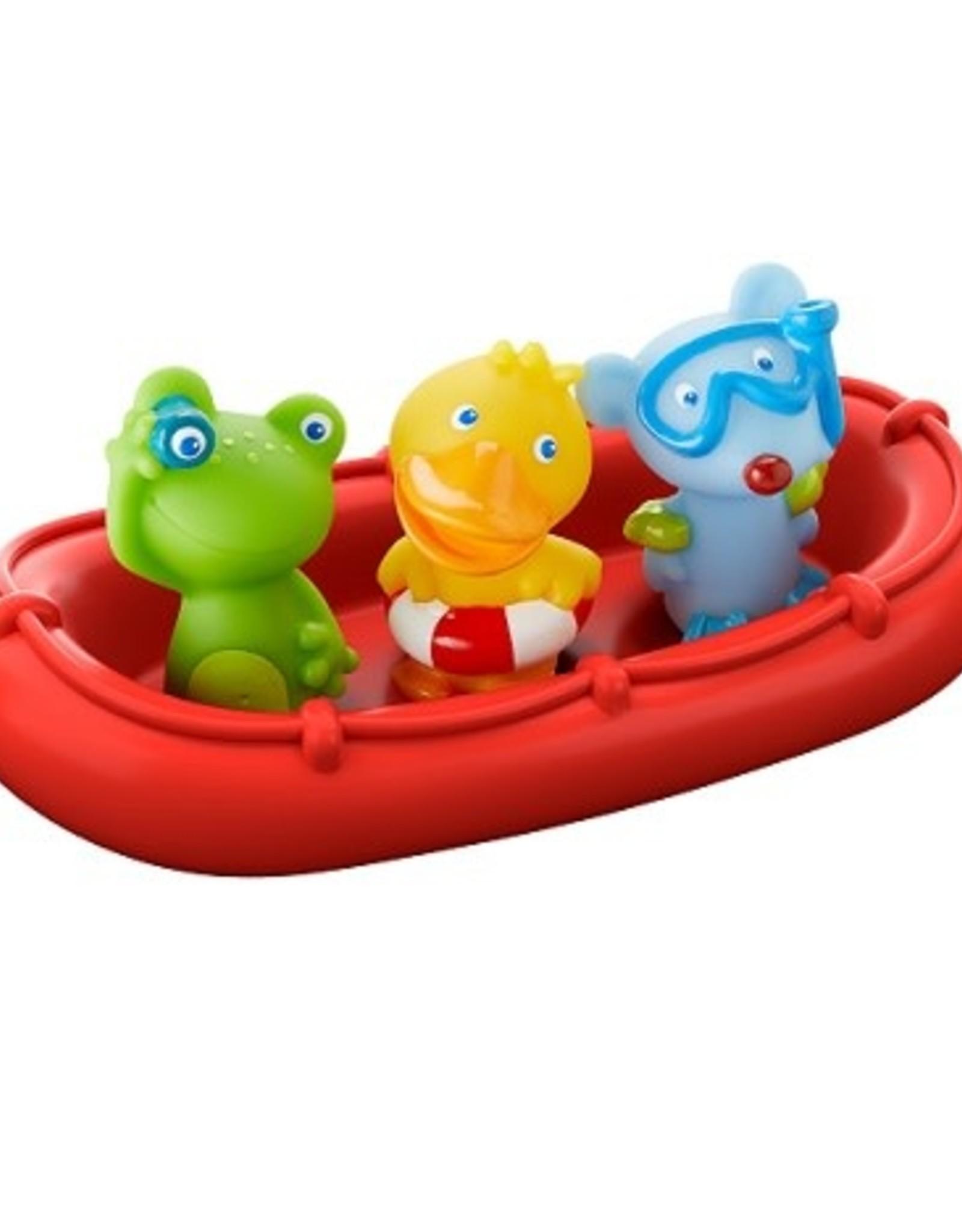 Haba Batboot met 3 dierenmatrozen