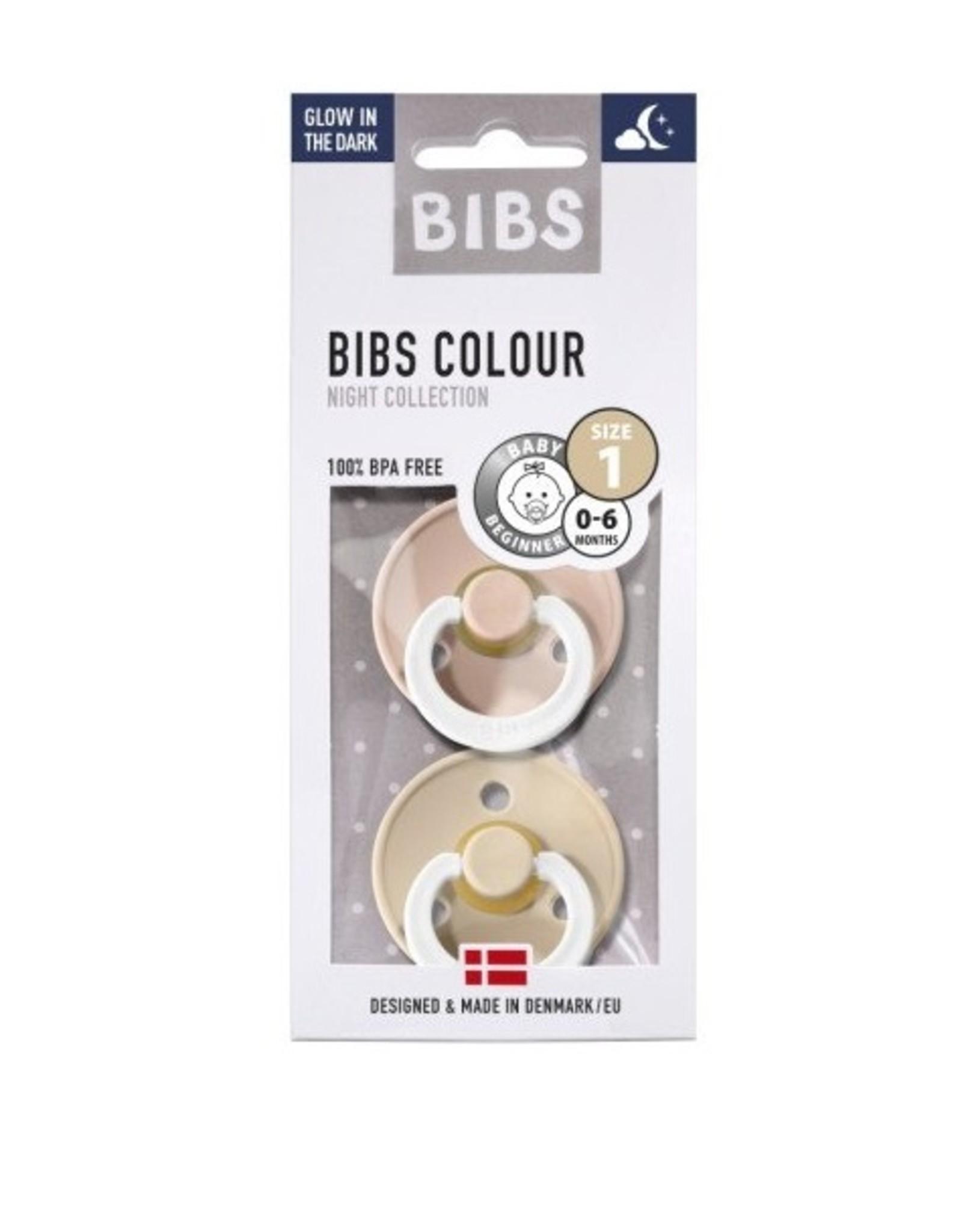 Bibs Bibs Fopspenen glow in the dark  Vanilla/Blush
