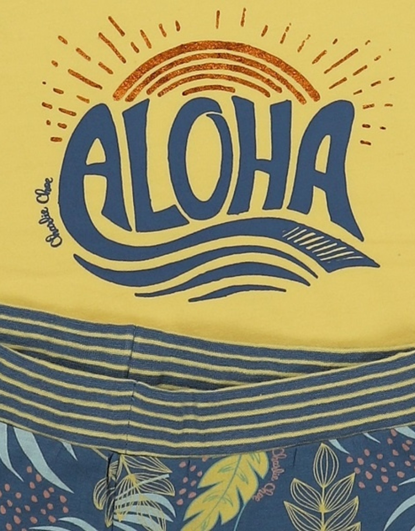 Charlie Choe ¨Pyjama met topje  geel Aloha