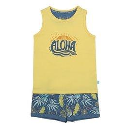 Charlie Choe Pyjama met topje geel Aloha