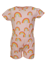 Someone pyjama roos pet  regenboogjes