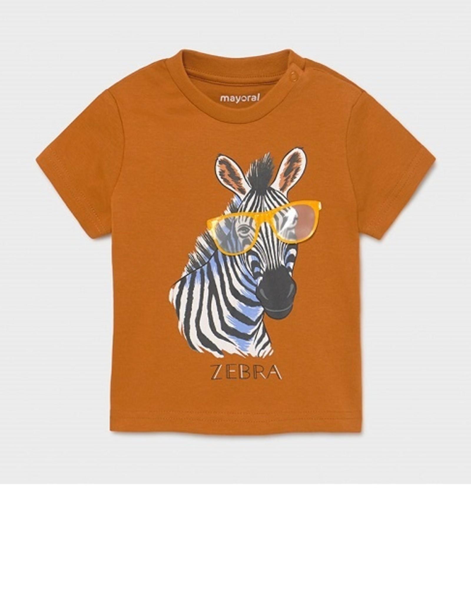 Mayoral T-shirt camel Zebra