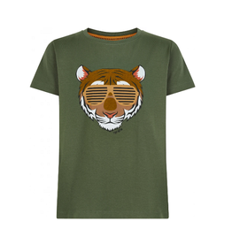 The New T-shirt kaki tijger zonnebril
