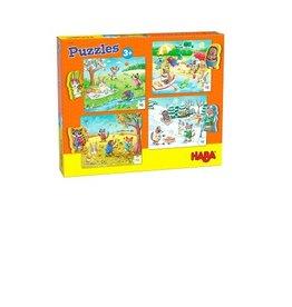 Haba 4 Puzzels van 15 st