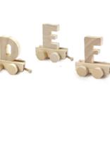 Houten letter voor lettertreintje