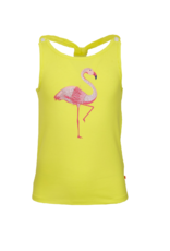 Someone Topje fluo geel flamingo