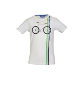 Someone T-shirt ecru fiets