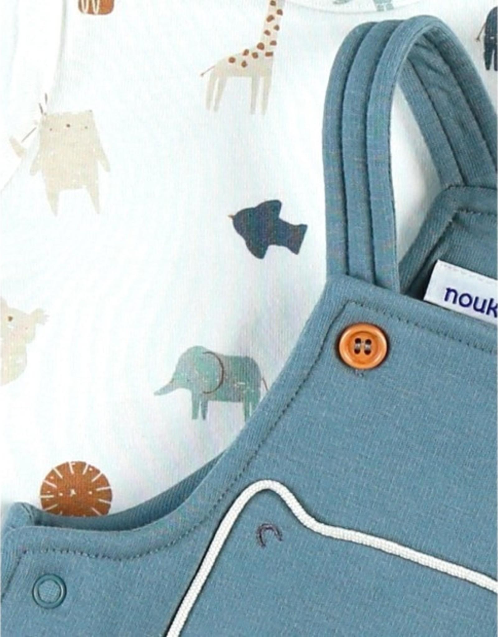 Noukie's Set Salopette + T-shirt safari