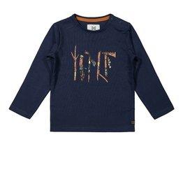 KokoNoko T-shirt donker blauw met print