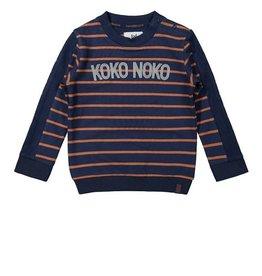 KokoNoko Sweater blauw streep
