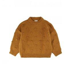 The New Gebreide sweater oker