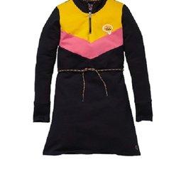 Quapi SweaterkleedjeAntraciet/geel/roos