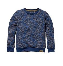 Quapi Sweater blauw tekst