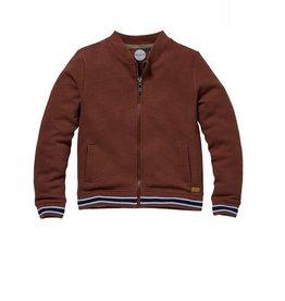 Quapi Sweatervest bruin rib